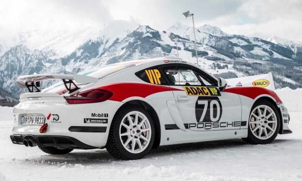 Porsche 718 Cayman GT4 Clupsport Rally Car