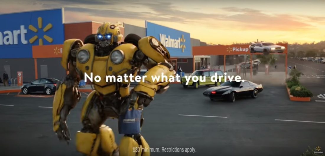 Batmobile to Bumblebee, the Walmart Commercial is Packed