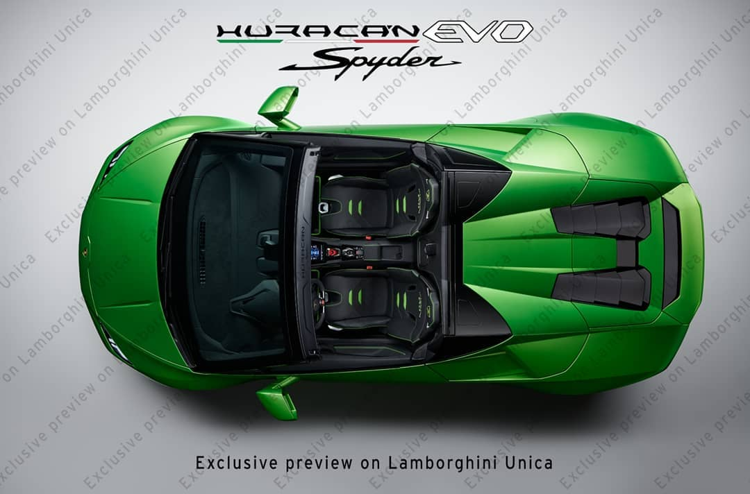 Lamborghini Huracan Evo Spyder Previewed On Unica App The Supercar