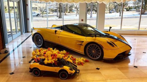 Yellow-Pagani Huayra Roadster Big Bird-Sparky18888-1