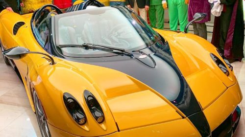 Yellow-Pagani Huayra Roadster Big Bird-Sparky18888-4