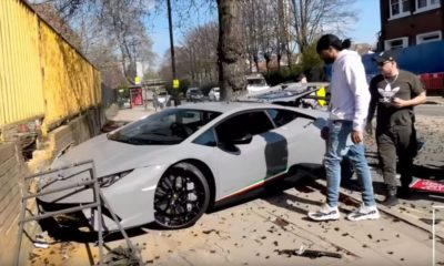 Lamborghini Huracan Performante-crash-UK-2019