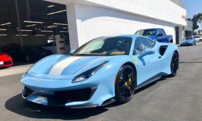 Baby Blue Ferrari 488 Pista-San Diego-4