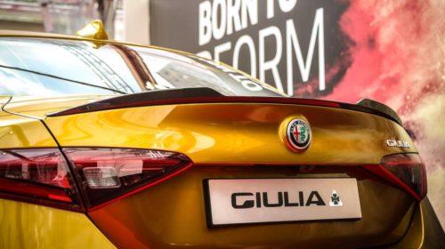 Gold Alfa Romeo Giulia Quadrifoglio-Mille Miglia-2