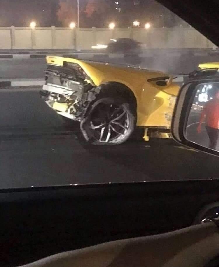 Lamborghini Huracan Splits In Half In Horrific Crash In Egypt The