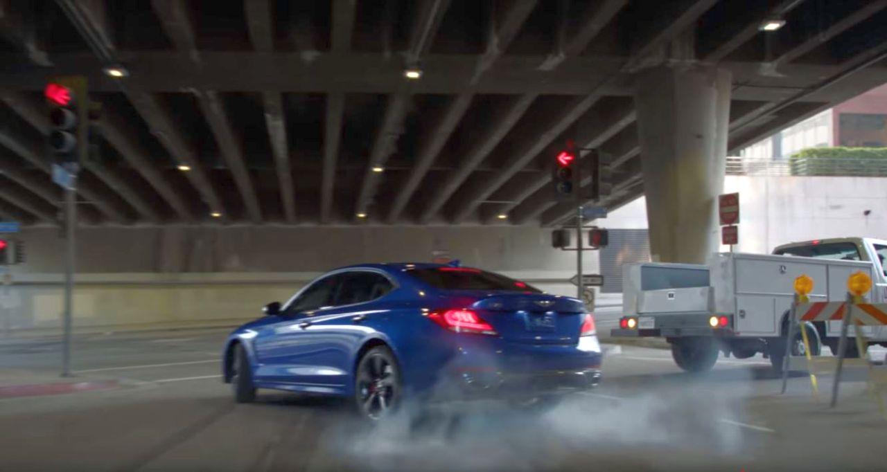 Genesis G70-stunt-video1