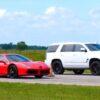 Hennessey Cadillac Escalade vs Ferrari 488 GTB