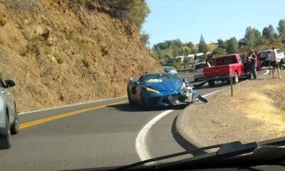 2020 Chevrolet Corvete C8 mid-engined-crash-California
