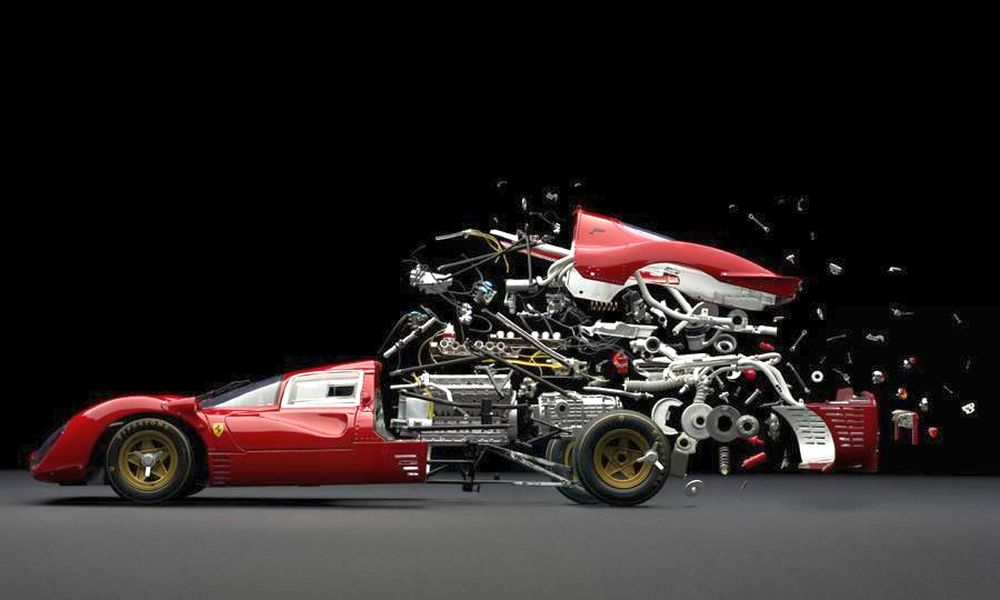 Ferrari exploded view