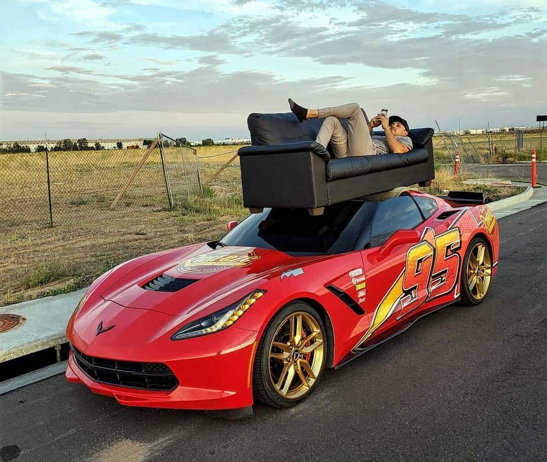 Lightning McQueen Corvette C7