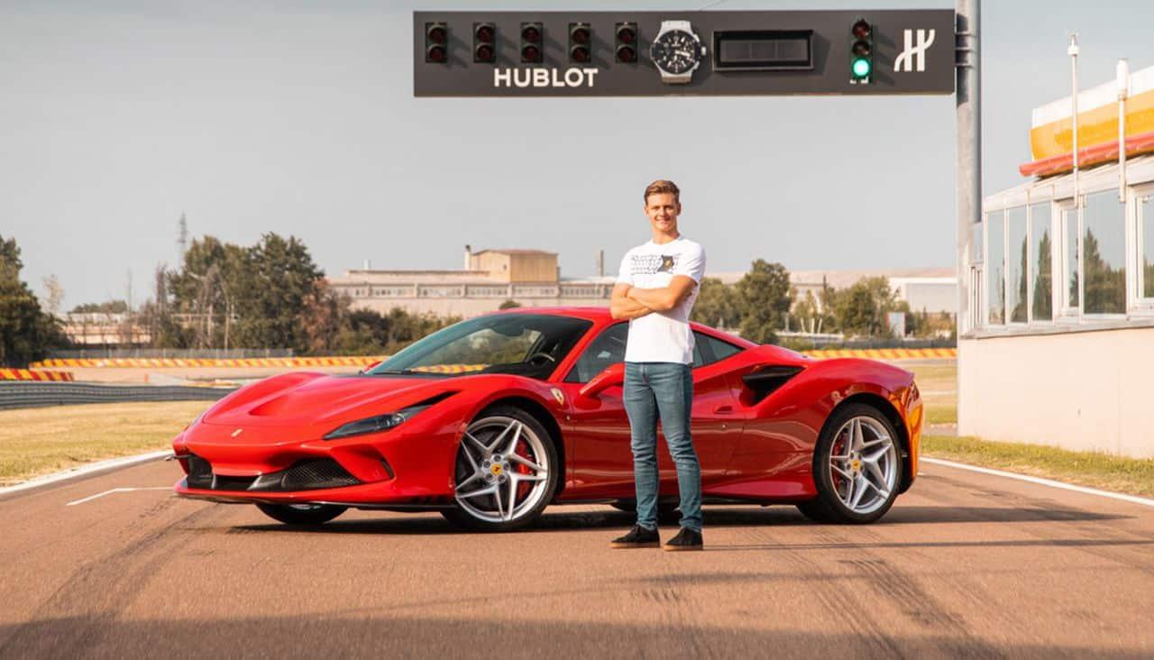 Mick Schumacher-Ferrari F8 Tributo-Fiorano