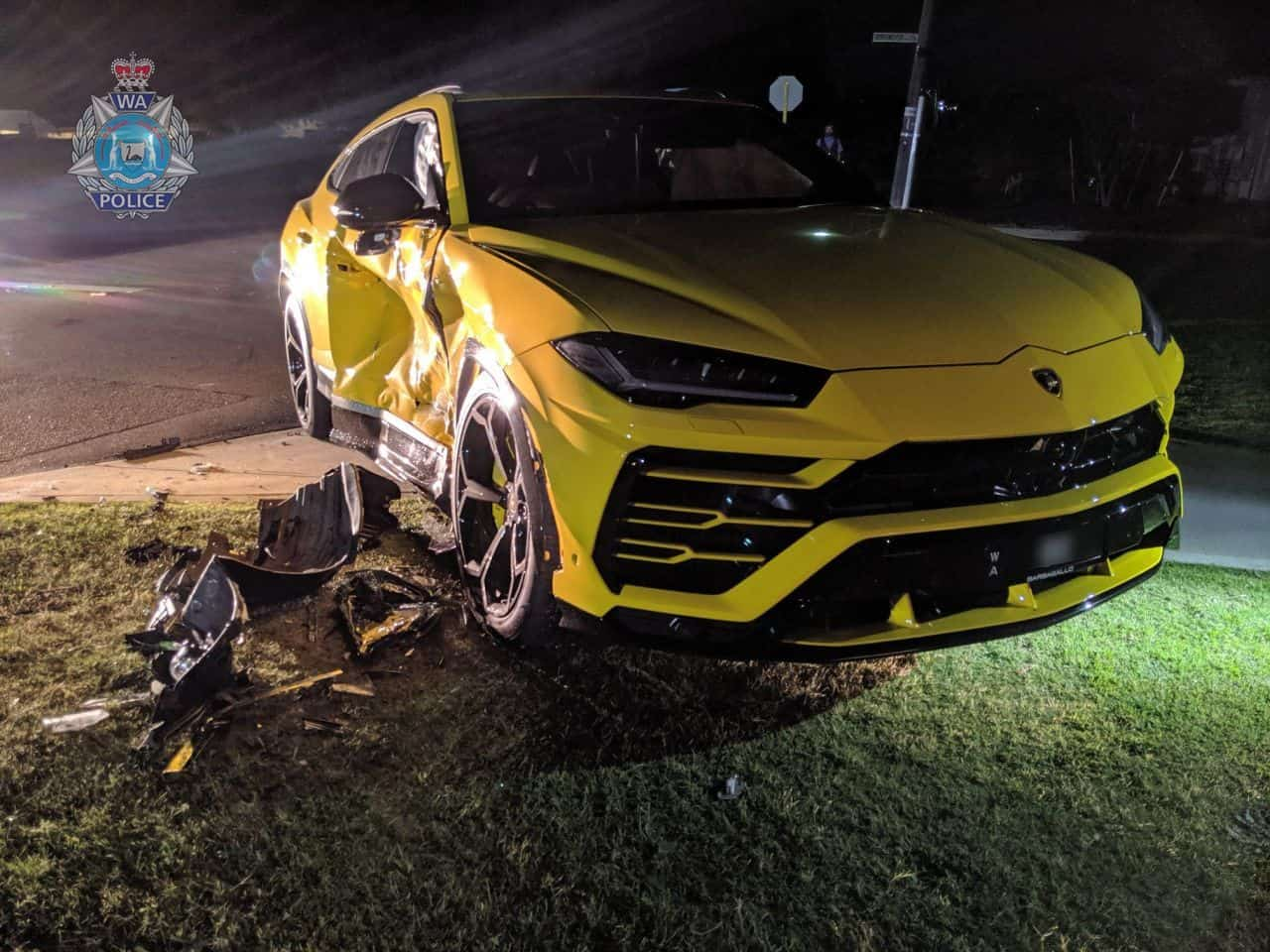 Yellow-Lamborghini-Urus-Crash-Perth-Australia-1