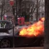 Ferrari-Porsche-vandalized-fire-Yellow-vest-protest