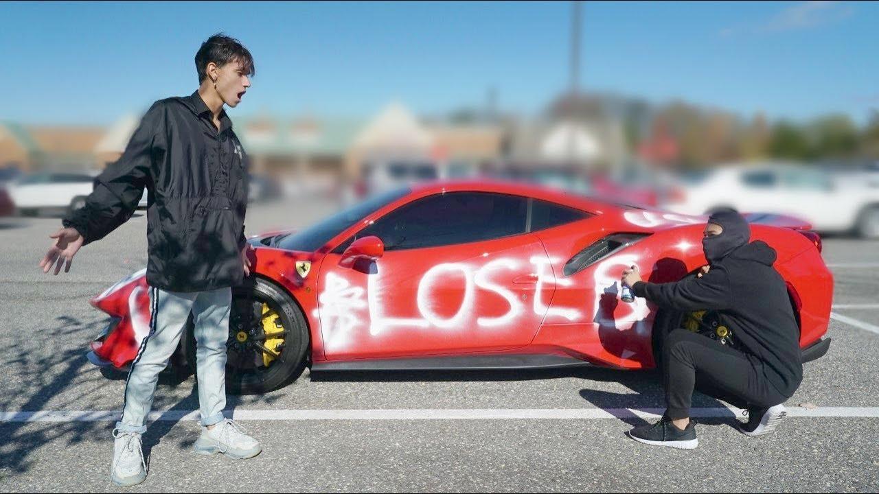 Lucas and Marcus-Ferrari-vandalized