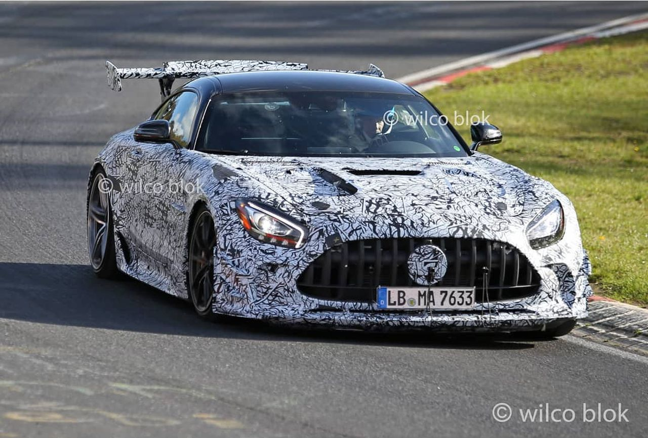 Mercedes-AMG GT Black Series-spy shot-Nurburgring
