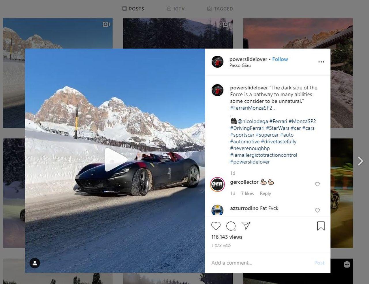 Ferrari Monza SP2-Alps-drifting-powerslidelover-instagram