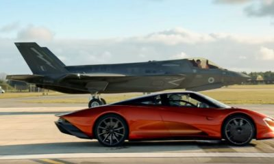 McLaren Speedtail vs F35 Fighter Jet-Top Gear