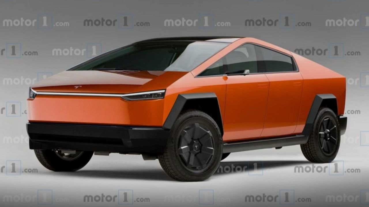 Production-spec Tesla Cybertruck-Rendering
