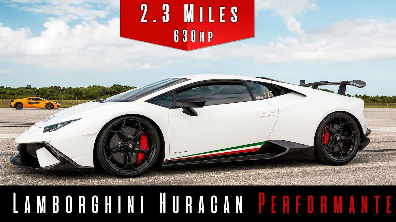 Supercharged Lamborghini Huracan Performante-Top Speed