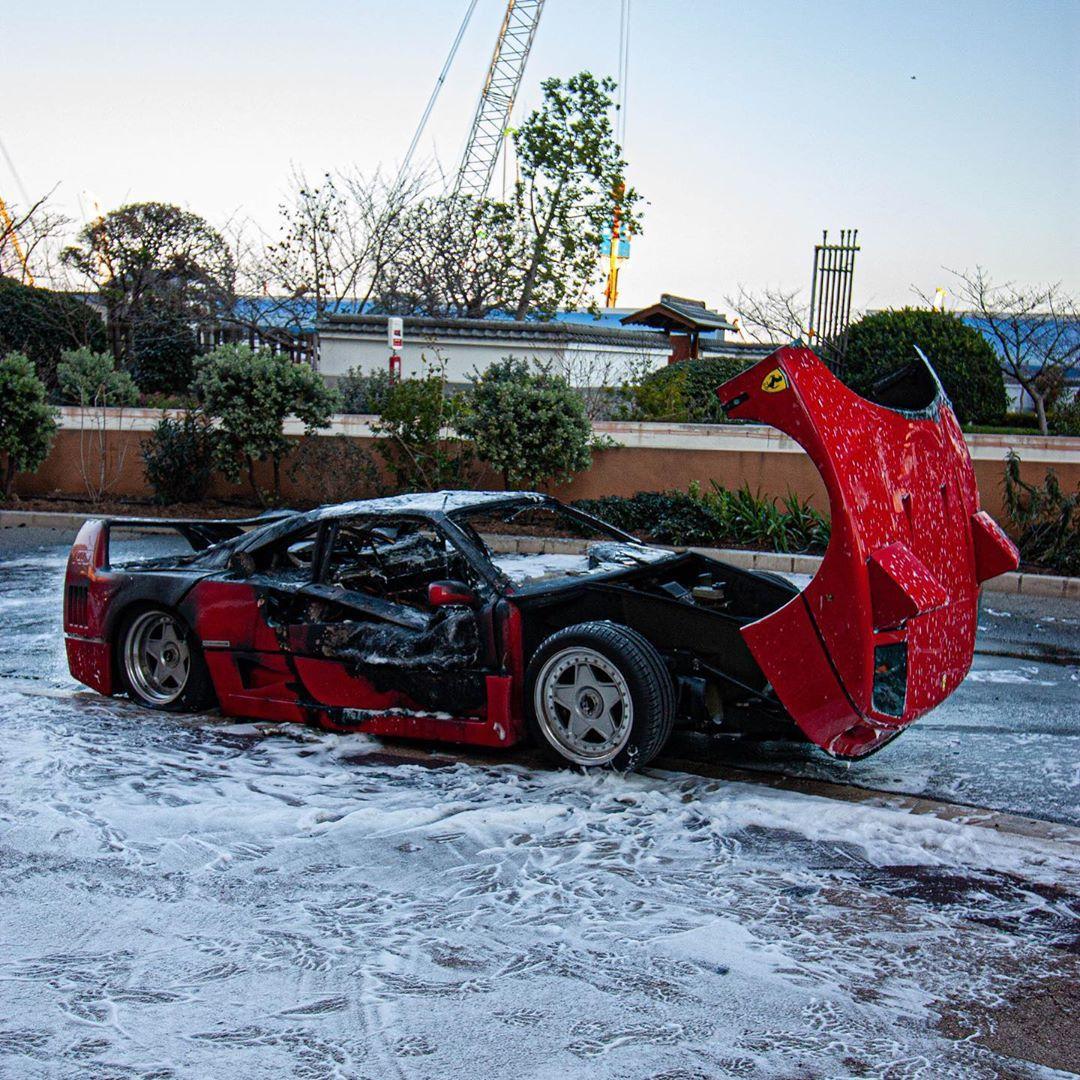 Ferrari F40-Fire-Monaco-3