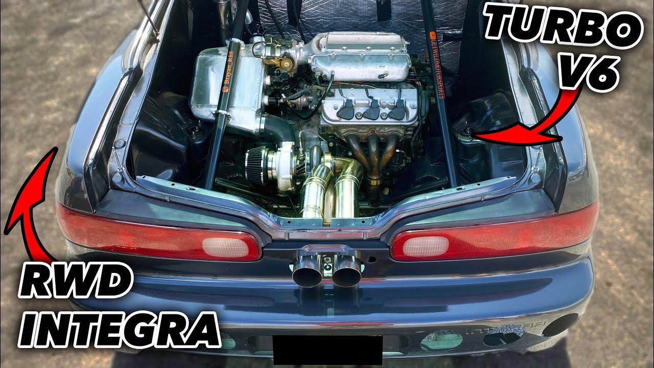 Mid-engine Honda Integra-Texas Steet Racing