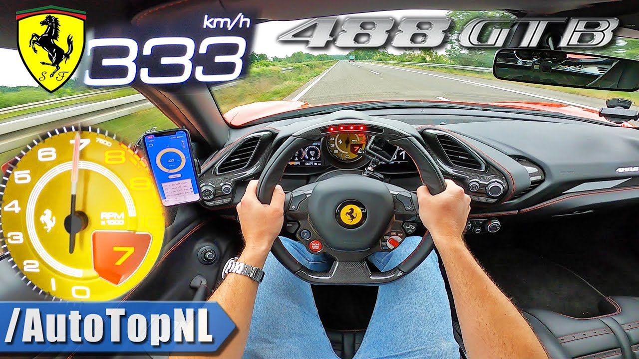 Ferrari 488 GTB-Top Speed-Autobahn