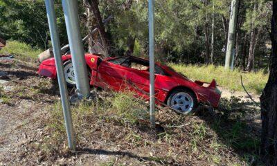 Ferrari F40-Australia-Crash-1