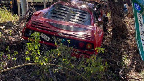 Ferrari F40-Australia-Crash-3