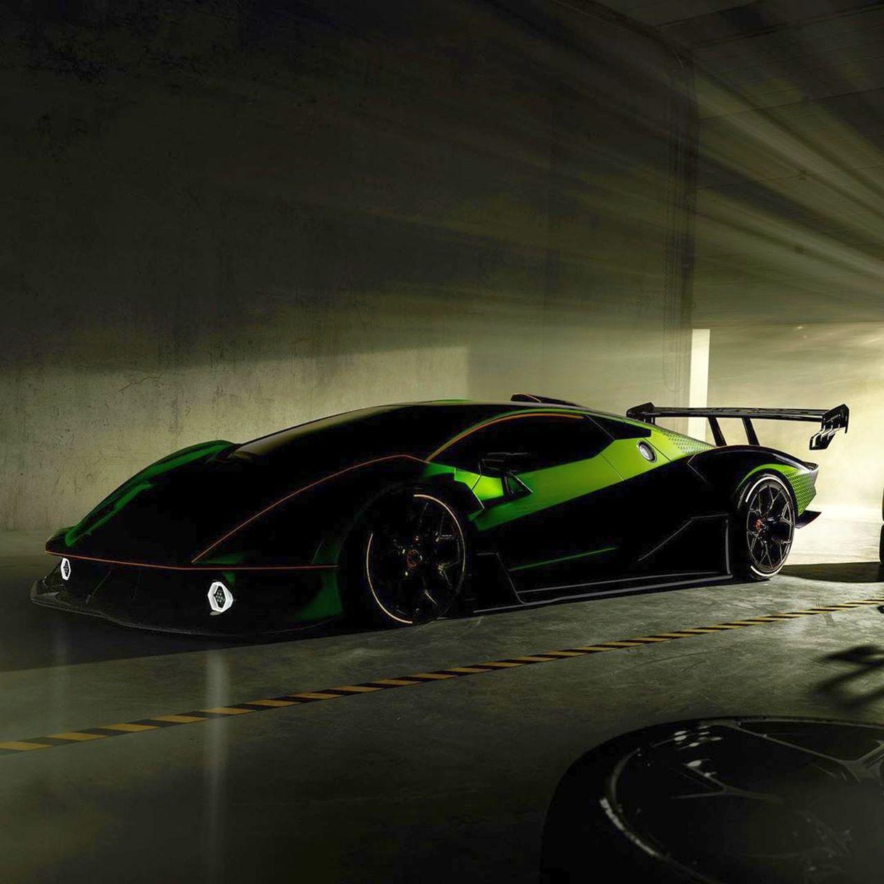 Lamborghini SCV12-Hypercar-Green-Teaser-1