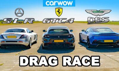 McLaren SLR vs Ferrari GTC4Lusso vs Aston Martin DBS Superleggera