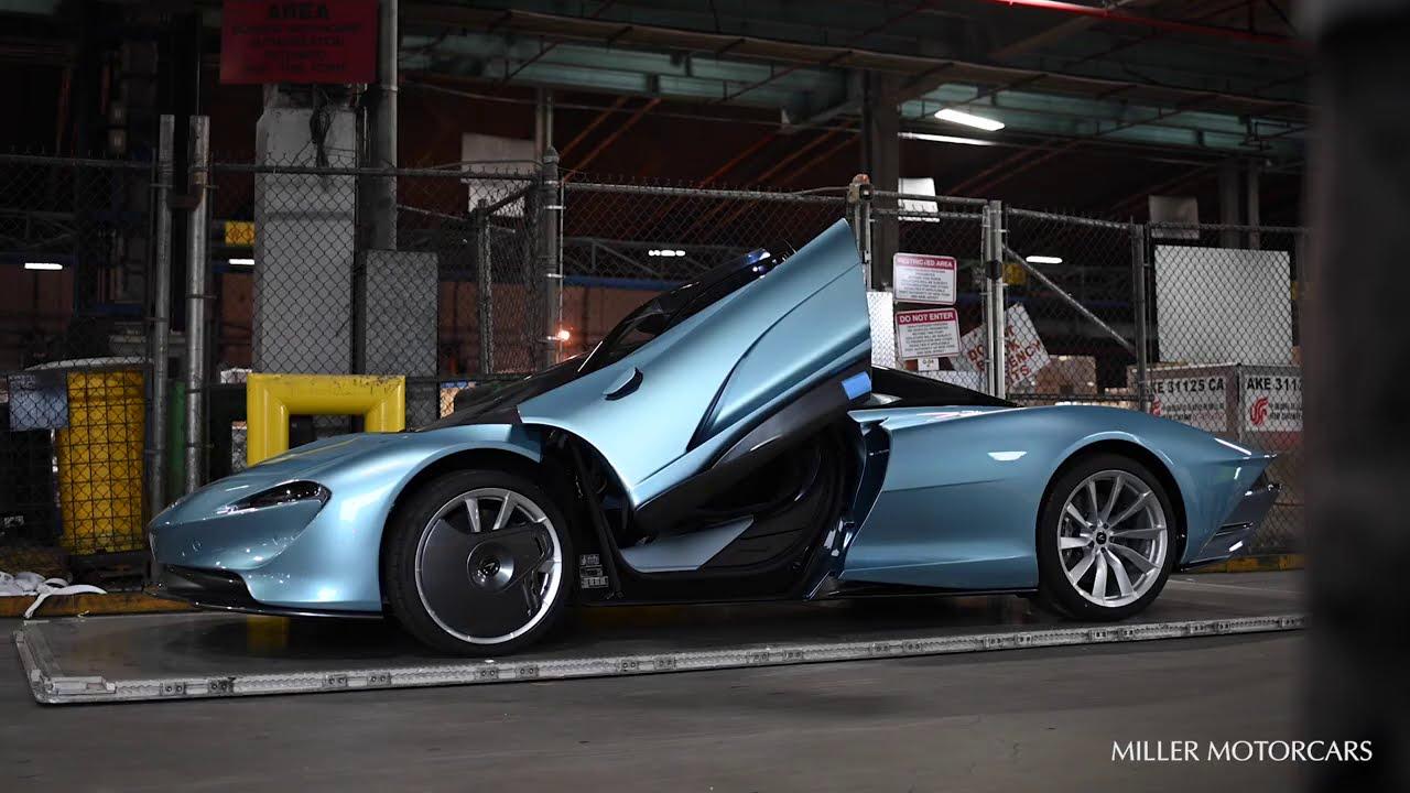 First US-spec McLaren Speedtail Blue Delivery