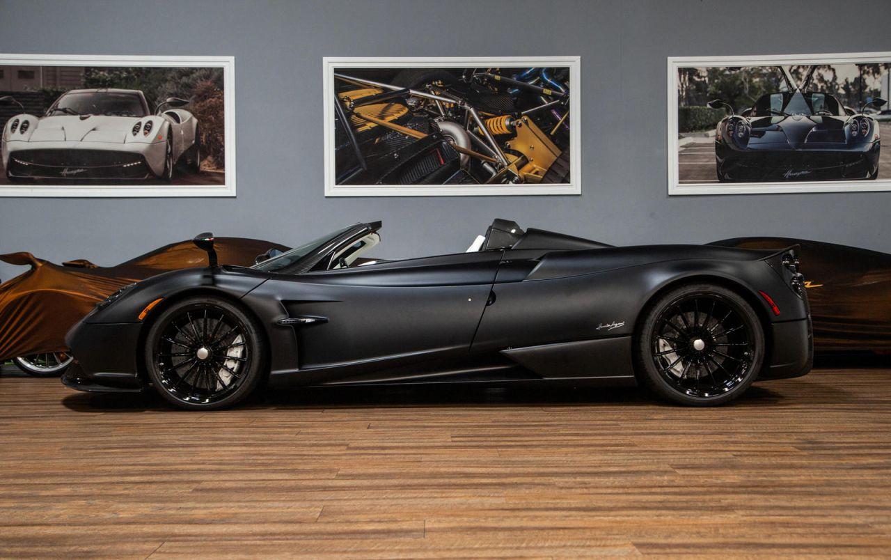 Matte Black Pagani Huayra Roadster-for-sale-2
