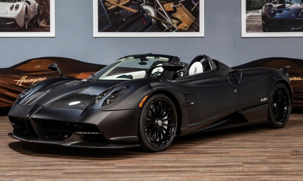Matte Black Pagani Huayra Roadster-for-sale-4