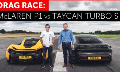 McLaren P1 vs Porsche Taycan Turbo S electric car