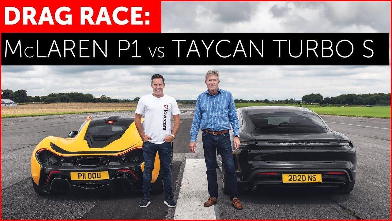 McLaren P1 vs Porsche Taycan Turbo S electric car