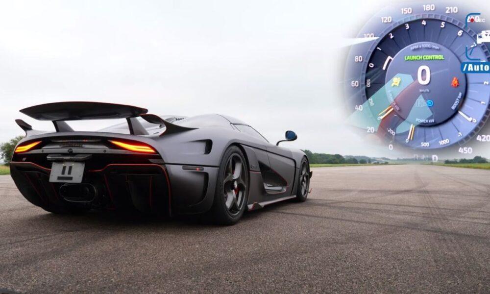 Koenigsegg Regera acceleration run