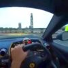 Ferrari 812 Superfast crash-London