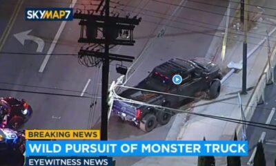 Hennessey VelociRaptor 6x6 police pursuit-LA