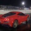 Ferrari F8 Tributo-drag-strip-wheelie