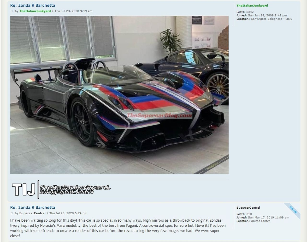 Pagani Zonda R Barchetta-Leaked-scoop-image
