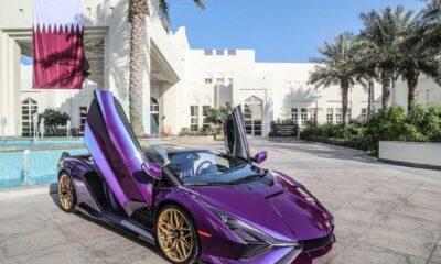 Violet Lamborghini Sian-Qatar Royal-1