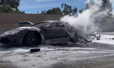 Lamborghini Murcielago-fire-LA-1