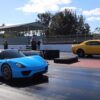 Porsche 918 Spyder versus Dodge Demon-drag race