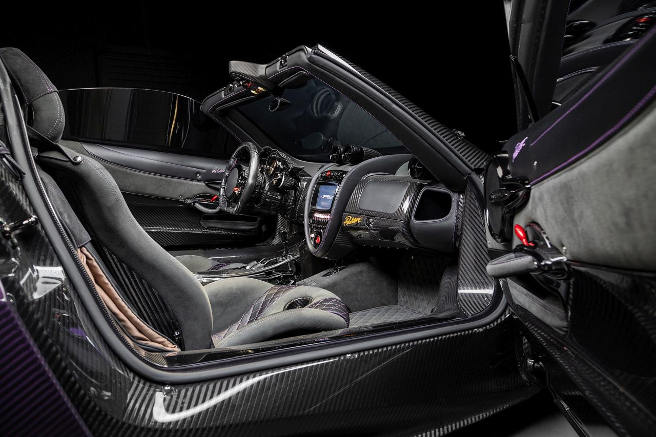 Purple Carbon Pagani Huayra Roadster-for-sale-Canada-3