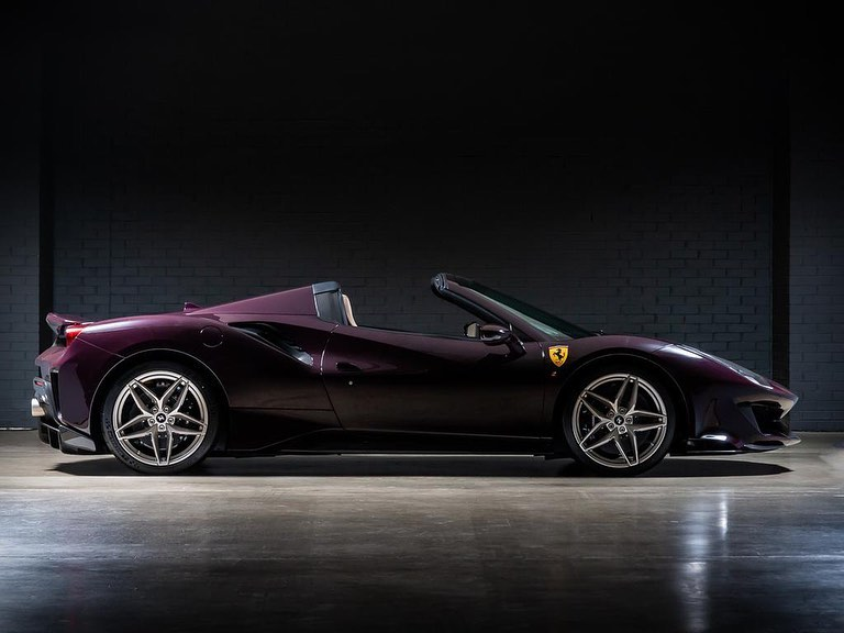 Ferrari 488 Pista Spider-Purple-Tailormade-3