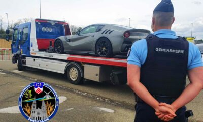 Ferrari F12 TDF-impounded-speeding-France