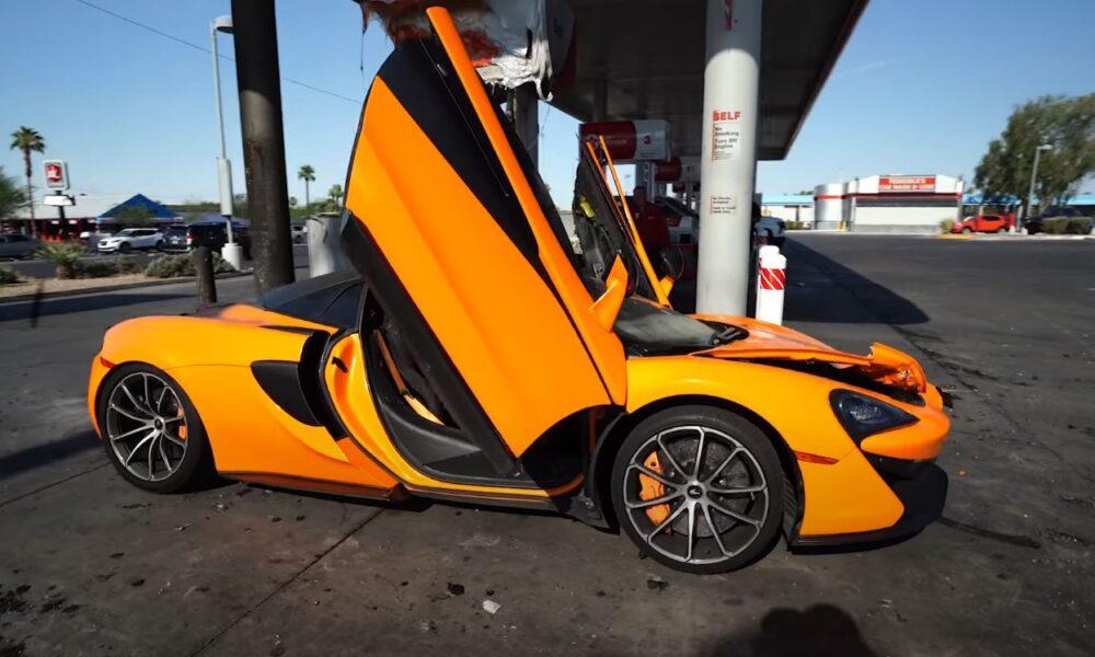 Fire Damaged McLaren 570S-Las Vegas