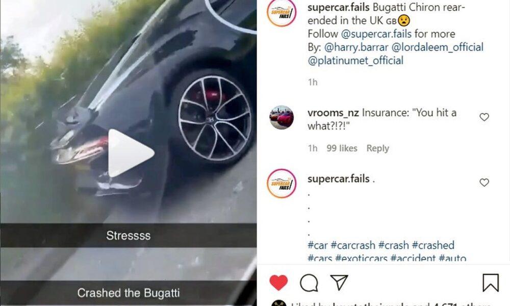 Lord Aleem Bugatti Chiron crash