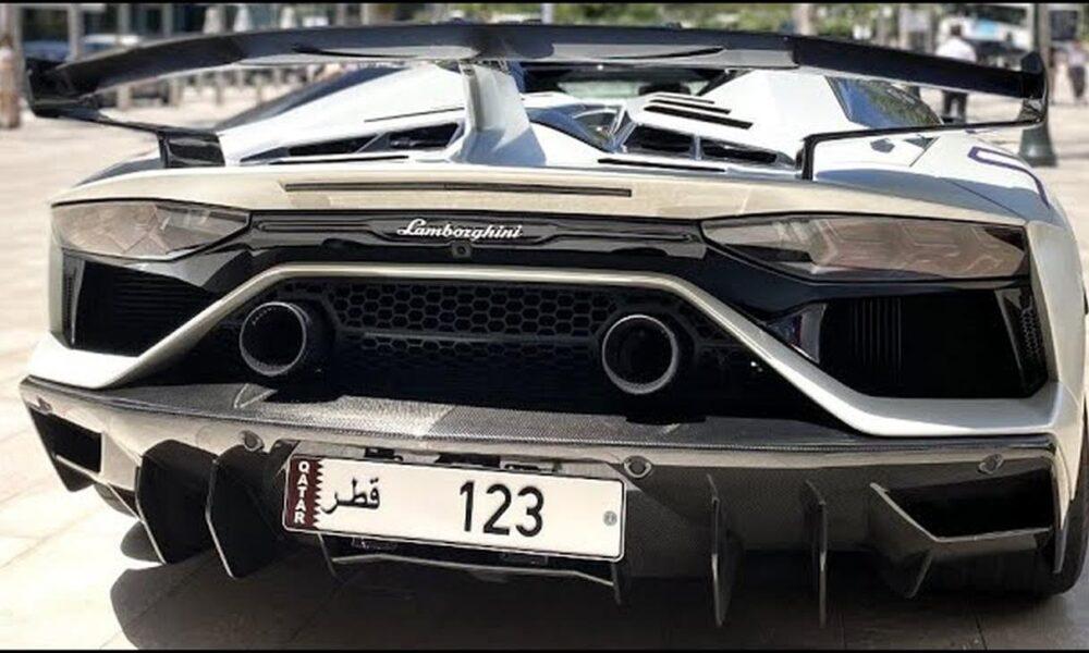10 million euro Qatar license plate-Lamborghini Aventador SVJ Roadster