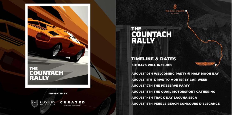 Countach Rally Pebble Beach 2021